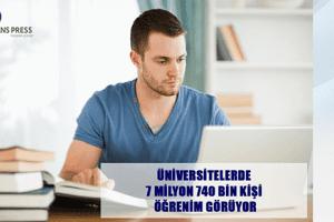 Üniversitelerde 7 Milyon 740 Bin Kişi Öğrenim Görüyor