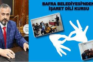 Bafra Belediyesi'nden 'İşaret Dili Kursu'