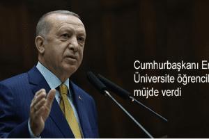 Cumhurbaşkanı Erdoğan 2021 Yılı Burs ve Öğrenim Kredisini Açıkladı
