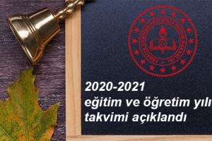 2020-2021 Eğitim Öğretim Yılına İlişkin Takvim İllere Gönderildi