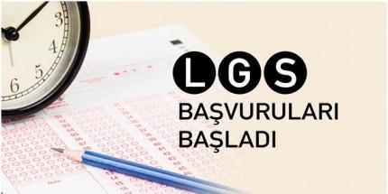 LGS Sınav Başvuruları Başladı