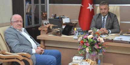Rektör Aydın'dan Başkan Topaloğlu'na Ziyaret