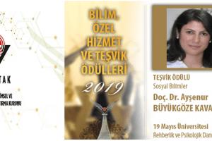 OMÜ'lü Öğretim Üyesi TÜBİTAK Teşvik Ödülü'ne Layık Görüldü