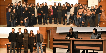 OMÜ'de Ünlü Oyuncular Melis Birkan ve Caner Cindoruk Söyleşisi
