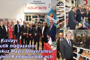OMÜ'de Kızılay Öğrenci Butik Mağazası Açıldı