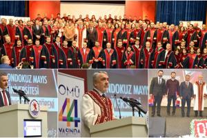 OMÜ'de Ünvanda Yükselen Akademisyenler Biniş Giydi