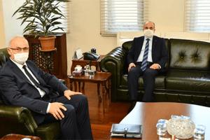 OMÜ Rektörü Ünal İlk Ziyaretini Vali Zülkif Dağlı'ya Gerçekleştirdi