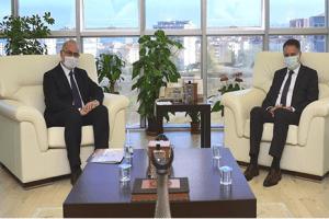 Rektör Ünal Atakum Belediye Başkanı Cemil Deveci'yi Konuk Etti