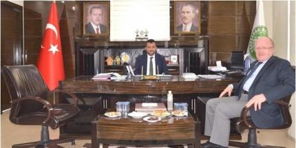 Samsun Üniversitesi Rektörü Aydın'dan Başkan Doğan'a Ziyaret