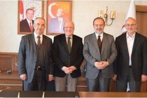 Diyanet İşleri Eski Başkanlarından Rektör Aydın'a Ziyaret