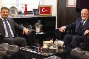 Rektör Aydın'dan ÖSYM Başkanı Aygün'e Ziyaret