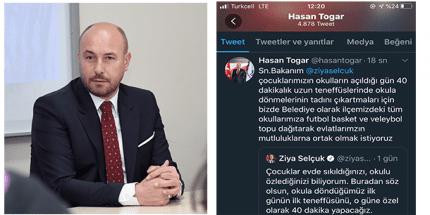 Başkan Hasan Togar'dan Milli Eğitim Bakanına Destek