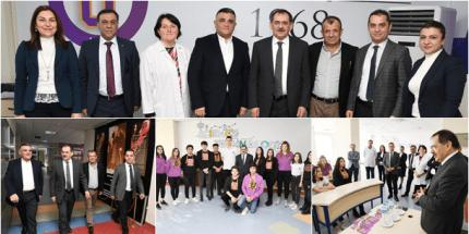 Başkan Demir, Uğur Okulları'nda Mektup Arkadaşları İle Buluştu