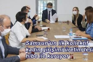 Samsun'un İlk Kadın Kooperatifine Ticaret Bakanlığı'ndan Destek