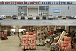 Sebze ve Meyve Hali'nde 110 Bin Ton Ürün İşlem Gördü