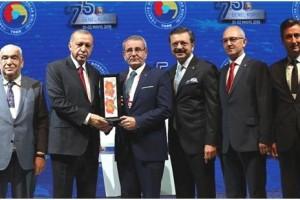 """Samsun TSO'ya  """"Sektörel Gelişim"""" Ödülü"""
