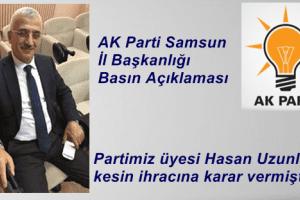 Hasan Uzunlar Ak Parti'den İhraç Edildi