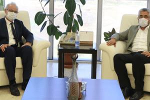 Başkan Aksu'dan OMÜ Rektörü Ünal'a Ziyaret