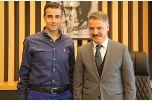FIFA Kokartlı Hakem Mete Kalkavan'dan Başkan Cemil Deveci 'ye Ziyaret