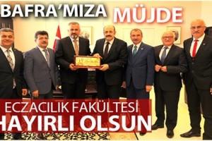 Başkan Hamit Kılıç'tan Eczacılık Fakültesi Teşekkürü