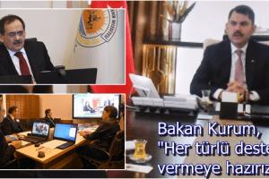 Bakan Murat Kurum İle Video Konferanslı Yatırım Zirvesi