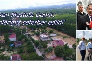 Terme'de Sağanak Yağış, Heyelan ve Sele Yol Açtı