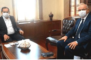 OMÜ Rektörü Prof. Dr. Yavuz Ünal Başkan Demir'i Ziyaret Etti