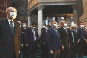 Cumhurbaşkanı Erdoğan Cuma Namazını Ayasofya'da Kıldı