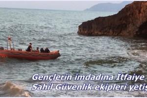Denizde Mahsur Kalan 2 Genci İtfaiye Kurtardı