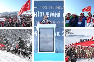 Sarıkamış'ta Türkiye Şehitleriyle Yürüdü