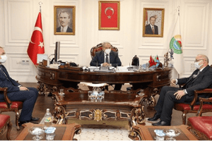 Başkan Demirtaş Rektör Ünal'ı Makamında Misafir Etti