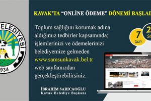 """Kavak Belediyesi  """"Online Ödeme"""" Sistemine Geçti"""