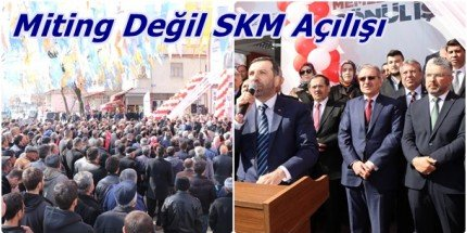 Kavak'ta Miting Gibi SKM Açılışı