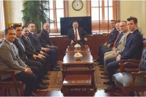 Makina Mühendislerinden Başkan Demir'e 'Hayırlı Olsun' Ziyareti