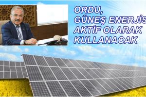 Ordu Büyükşehir Belediyesi Güneş Enerjisi İle Elektrik Üretecek