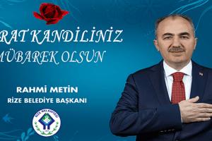 Başkan Metin'den Berât Kandili Mesajı