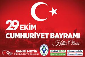 Başkan Metin'den 29 Ekim Cumhuriyet Bayramı Mesajı