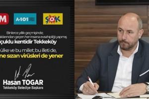 Başkan Togar'dan 3 Zincir Markete Tepki