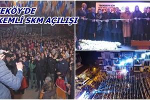 Tekkeköy SKM Açılışı Mitinge Dönüştü