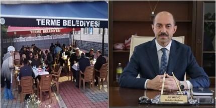 Terme Belediyesi Samsun- Ordu Karayolu Kenarına İftar Çadırı Kurdu