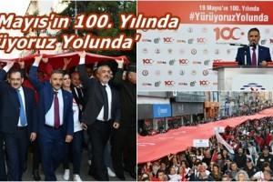 Samsun'da 'Büyük Gençlik Yürüyüşü' Gerçekleştirildi