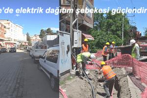 YEDAŞ Samsun Terme'de Havai Hatları Yeraltına Taşıdı