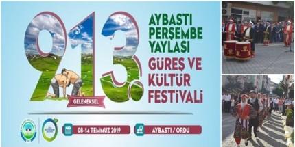 913. Geleneksel Perşembe Yaylası Güreş ve Kültür Festivali Başladı