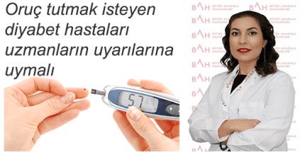 Büyük Anadolu Hastaneleri'nden Diyabet Hastalarına Oruç Uyarıs