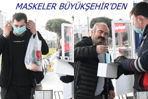 Tramvay ve Otobüslerde Maskeler Büyükşehir'den