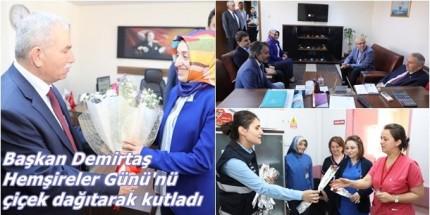 Demirtaş'tan Hemşirelere Çiçekli Kutlama