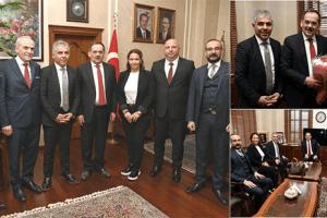 Samsunspor Yeni Yönetim Kurulundan Başkan Demir'e Ziyaret