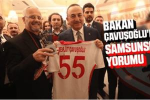 Bakan Çavuşoğlu'na Samsunspor Forması