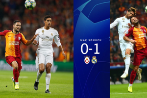 Galatasaray:0 -  Real Madrid:1