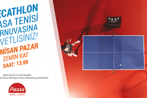Samsun Piazza'da Masa Tenisi Turnuvası